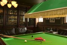 Billiard room. / Our residential bar includes a snooker table and #whisky shop.  http://pool-house.co.uk/rowallan-room.php