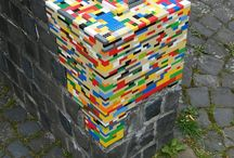 Street art / Paste-ups and lego installations
