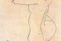 Egon Schiele - Desenho /Drawing / Egon Schiele (1890-1918)