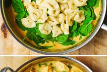 Tortellini with butternut and spinach