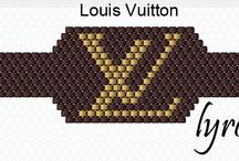 Beading: weave Louis Vuitton