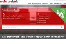 Projektscreens wohnpreis.de / das erste Preis- und Vergleichsportal für Immobilien