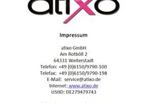 Impressum/Imprint / Impressum atixo GmbH - Owner of the Brand Saresia