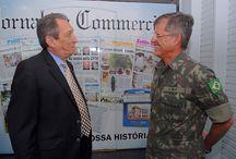 Comandante visita Jornal do Commercio