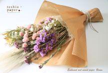 teshio paper Naturalシリーズで花束