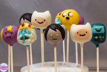 Adventure time cake pops
