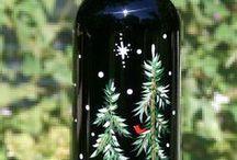 χριστουγεννιατικα μπουκαλια