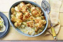Smoked haddock and cauliflower gratin