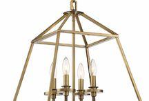 Brass + Gold Open Cage Lanterns