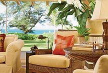 DIY Hawaiian inspired lounge