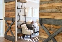 Non-Traditional Interior Doors / There are so many different styles and types of doors that can be used inside homes in addition to the traditional solid surface hinged door inside a framed door jamb - barn doors and sliding doors, pocket doors, french doors, dutch doors, bi-fold doors, and more.
