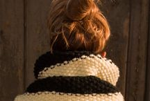 Knitting At the Wooden box