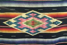 Mexican Saltillo/Serape blankets