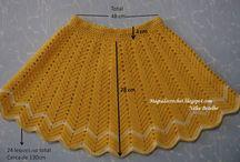 falda crochete