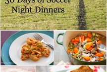 Sport snacks and dinners