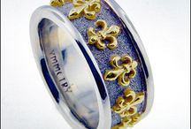 Wedding Bands - Symmetry Jewelers / Exclusively designed wedding bands by Tom Mathis of Symmetry Jewelers in New Orleans.   May not all be available immediately; call to inquire or custom order yours.