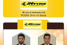 Congratulations for Placements in JK Tyre & Industries Ltd
