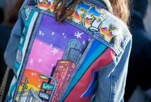 Campera jean pinturas