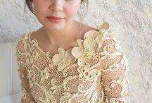 horgolt esküvői ruha