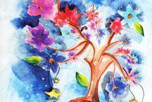 Ilustración / Mis diseños de ilustración con flores (doodle flowers)