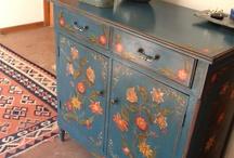 muebles azul vintage