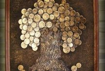 Decorando com moedas / reutilizaçao de moedas na decoraçao