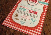 Invitation design / Custom BBQ and picnic invitation design templates by JDawnink.