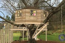 Waitati School Treehouse R1 / Concept design for tree house, swing, flying fox launch-pad