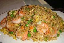 garnalen  met rijst