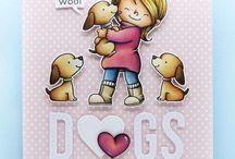 Card puppy stamp set