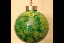 alcohol ink ornaments tutorial