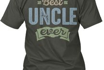 UNCLE TEES / Gift ideas for Uncle! Tees, Hoodies and Long-sleeves available in the style and color of your choice! By Cido Lopez