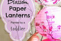 Paper lantern painting