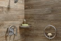 Staggered wood tile