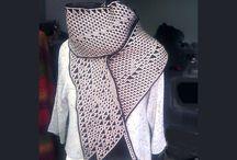 KnitYak scarves / Elementary cellular automata algorithm scarves