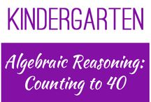 Kindergarten: Algebraic Reasoning - Counting to 40 / This board contains resources for Texas TEKS K.5