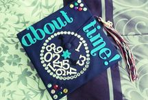 Graduation Cap Ideas / It's about that time to be creative for when I walk out those doors / by Tatyana Hughes