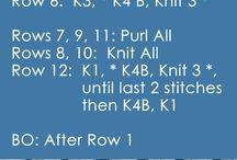 knitting pattern stitches