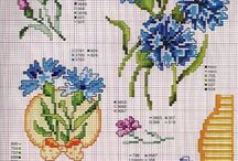cross stitch cornflowers (chabry)