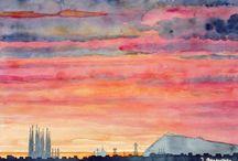 Aquarelles de Jean Berenguer - Watercolors / Aquarelles de Jean Berenguer,  thèmes divers
