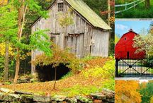 old Barns and Mills and Farms / Rustic country scenes.