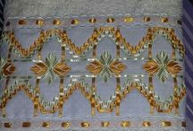 Toallas bordadas en cinta