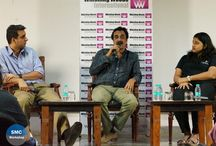"SMC Masterclass by Brian Tellis / Mr Brian Tellis,  Chairman Fountainhead Entertainment conducted #SMCWorkshop with #WWIStudents from the School of Media and Communication.   At the workshop,he shared his insights on the importance of self realization and evaluation for a successful career.   "" Live in the present and plan for the future and be real about yourself, "" he said."