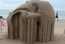Areia esculturas