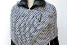 knitted sstitch cape