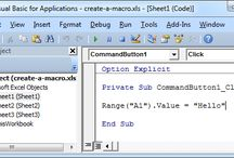 VBA / Excel VBA (Visual Basic for Applications) is the name of the programming language of Excel.