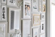 Frame on white wall