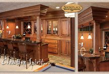 (DP) Bars - Showplace Cabinets / Images of home bar setups from Showplace Cabinetry and its nationwide network of dealers.