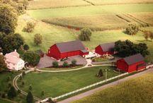Dream(y) Home / Beautiful farm house with barn and out buildings.  I love the driveway, too.