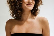 Curly medium hair
